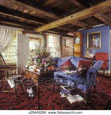 Red Oriental Rug Living Room Stock Photo Of Living Room Log Farmhouse Living Room Blue