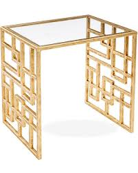 modern gold table l big deal on picabia modern glass side table gold