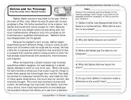 6th grade reading comprehension worksheets worksheets