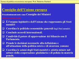 consiglio dei ministri europeo istituzioni dell unione europea ppt scaricare