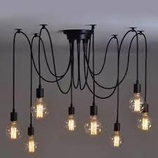 industrial style lighting chandelier 8 heads fuloon vintage edison style industrial retro diy lights