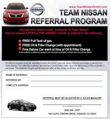 nissan cars names referral program team nissan dealership