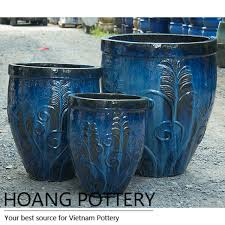glazed ceramic pots tall glazed ceramic planter from hoang pottery