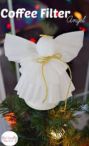 a simple coffee filter angel christmas tree topper craft for kids