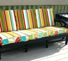 reupholstering outdoor furniture cushions or thrift store rattan
