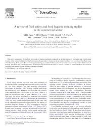 a review of food safety and food hygiene training studies in the