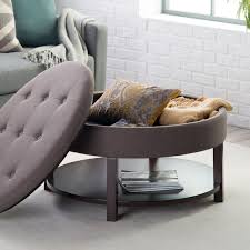 coffee table round tufted storage ottoman coffee table design