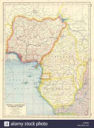 Gabon Africa Map by Gulf Of Guinea Nigeria Cameroon Muni French Equatorial Stock