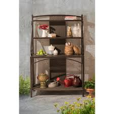Bakers Rack Sunjoy Sophie Brown And Gray Baker U0027s Rack 110215004 The Home Depot