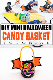 cute diy mini halloween candy basket for trick or treating