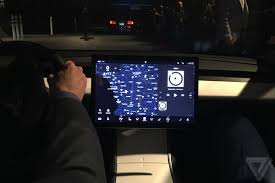 mercedes dashboard at night why is the tesla model 3 u0027s dashboard so weird the verge