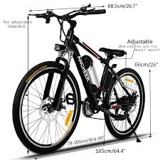 amazon com ancheer electric mountain bike with removable lithium