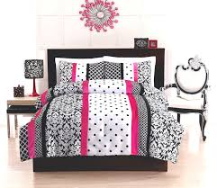 elegant black white pink teen bedding twin full queen