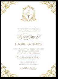 wedding invitation pictures classic herald 5x7 wedding invites shutterfly
