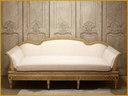 Gold Fabric Sofa Gustavian Swedish Hand Carved Exposed Frame Sofa Traditional