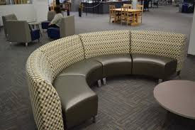 circle banquette settee lobby sofa library lounge seating from creative library concepts