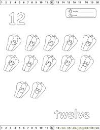 12 number coloring free numbers coloring pages