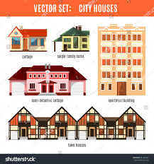 modern flat vector buildings set colorful stock vector 361482203
