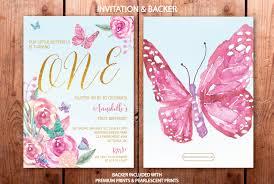 butterfly first birthday invitation butterflies 1st birthday