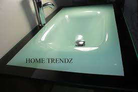 18 Inch Bathroom Sink And Vanity Combo by Bathroom Vanity Furniture Aqua Green Tempered Glass Bowl Vessel