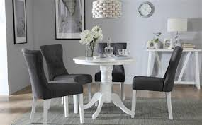 kingston round white dining table with 4 java chairs only 299 99