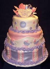 pink u0026 purple baby shower cake cakecentral com