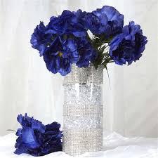 wholesale silk flowers 60 silk peony navy silk flowers factory