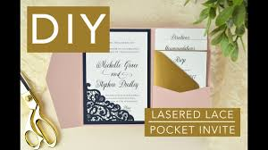 diy pocket wedding invitations lace laser cut pocket wedding invitation diy assembly