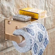 space aluminum chrome plating single double paper towel shelf