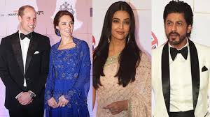william and kate prince william and kate middleton s gala dinner with shahrukh khan