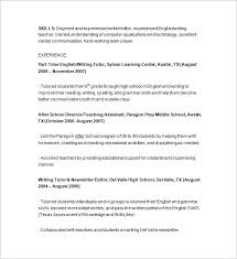 Resume Samples For Teacher by Tutor Resume Template U2013 13 Free Samples Examples Format