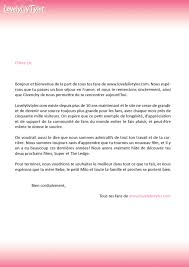 french cover letter