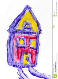 Paint House Child Painting Of A House Royalty Free Stock Photo Image 11801255