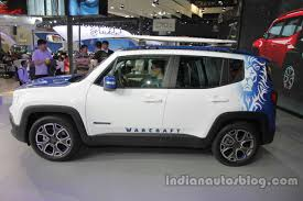 gray jeep renegade jeep renegade warcraft edition side profile at auto china 2016