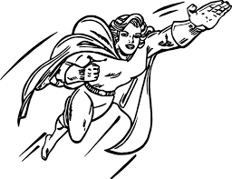 superheroes super hero coloring page wecoloringpage