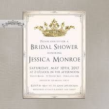 formal luncheon invitation blush pink and gold bridal shower invitations fancy crown princess