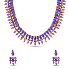 color necklace images Purple color ad necklace set madnks58 maalyaa jpg