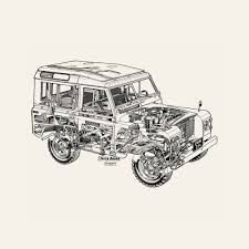 land rover drawing murals of white land rover by haynes manuals 3000mm x 2400mm