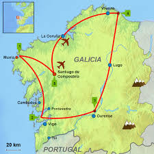 Portugal Spain Map by Circular Tour Galicia Caminos Touring Holidays In Spain