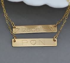 customized nameplate necklace gold bar nameplate necklace clipart