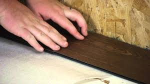How To Lay Laminate Floors How To Install Moisture Resistant Laminate Floors In A Basement