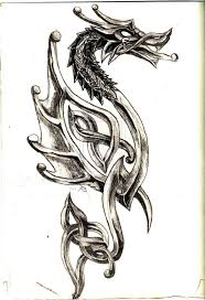36 best pagan dragon tattoos images on pinterest pagan dragon