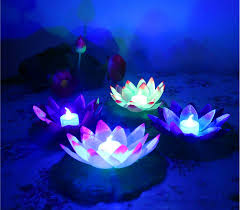 floating led pool lights diameter 19 cm floating led lotus l in colorful changed water