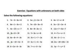 solving equations worksheets by brabanski teaching resources tes