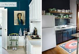 blue kitchen walls white cabinets kitchen decoration