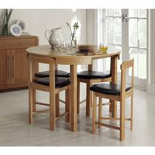 Buy Hygena Alena Circular Solid Wood Table   Chairs Black At - Argos kitchen tables