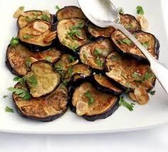 cuisine aubergines aubergines with garlic herb dressing recipe food