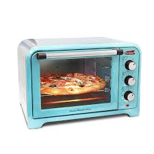 Reheating Pizza In Toaster Oven Americana 6 Slice Of Bread Or 12 In Pizza Retro Toaster Oven Blue
