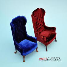 Velvet Wingback Chair Gracie Art Deco Royal Blue Velvet Classic Wing Chair Kathy Kuo