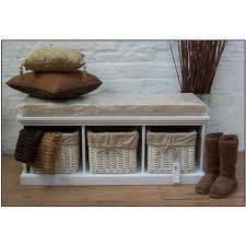 Shoe Storage With Seat Or Bench - white bench hallway shoe storage and seat stripe baskets so this